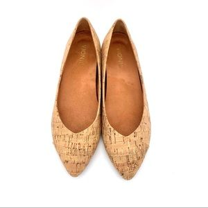 VIONIC Gem Caballo Gold Cork Point Orthaheel Flats